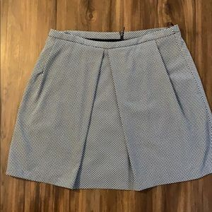 Women's Anne Klein Navy & Cream Skirt, Size 16